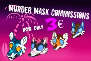Pixel murder mask icon commissions! by RaviTheBlueTiger
