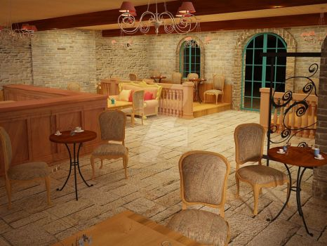 French Style coffee shop 06 by Linaerlight