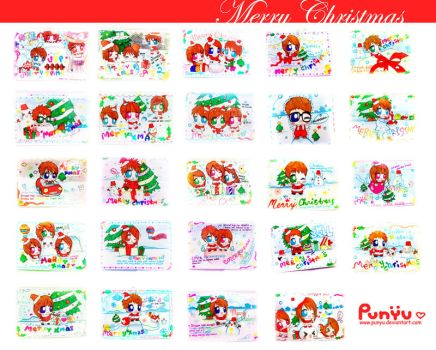Handmade Christmas Cards by Punyu