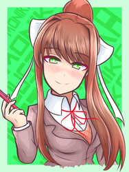 Doki doki literature club - Monika by JustPlainAni