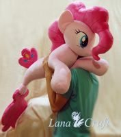 Merpony Pinkie Pie BIG handmade plush toy by LanaCraft
