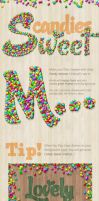 Candy Text Creator - Photoshop Actions by survivorcz