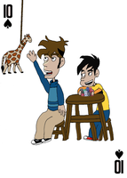 Tycho (and Gabe) on the 10 of Spades by JenniBee