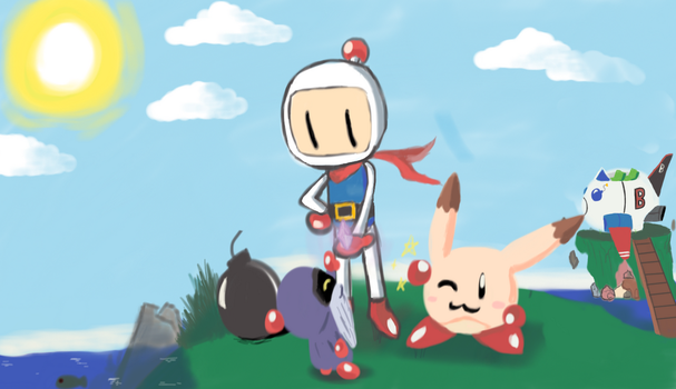 Bomberman's a hero to all by MagniusGaia