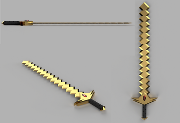 Wing's old sword 3D by wing693789