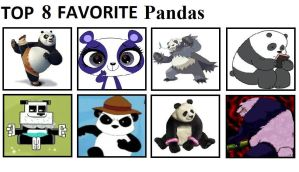 Top 8 Favorite Pandas by mlp-vs-capcom