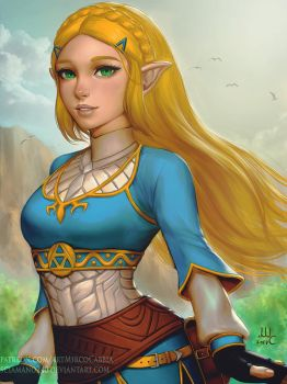 Zelda - BotW (Patreon reward) by Sciamano240