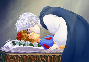.Crossover: Snow White AU. by Kikuri-Tan