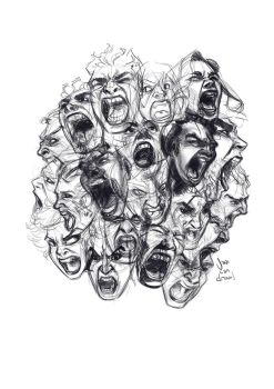 Sketchdump + HOW TO DRAW SCREAMING FACES VIDEO! by javicandraw