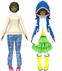[MMD] Sophie Summer and Winter by GetSquiddy