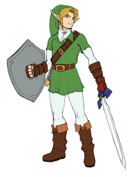 Oot Link (Kokiri Tunic) ~ Official Artwork by SiscoCentral1915