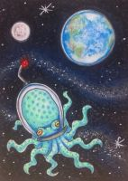 ACEO: Earthling by DanielleMWilliams