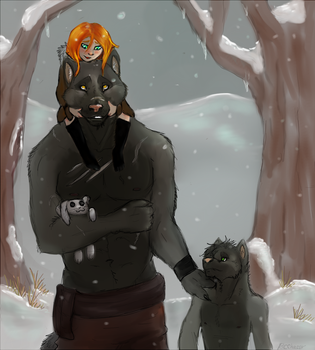 WereWolf Family by Black-Cat-Chaos