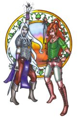 Theris and Fiona by Syreene