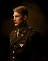 Steve Rogers - Painting by Lasse17