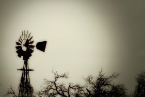 Windmill Silhouette by PhillyPuddy