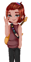 Pagedoll pixel Commission for TRangerDaveStrider by AruOwlsArts