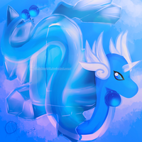 Dragonair Ice Heart by MichelleKoilover
