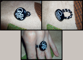 Piratey Button Ring by Xutes