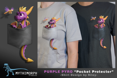 Purple Pyro 'Pocket Protector' [Sale Ends Oct 31] by CanineHybrid