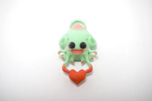 Squid Love [Necklace Charm] by TheWonderCat