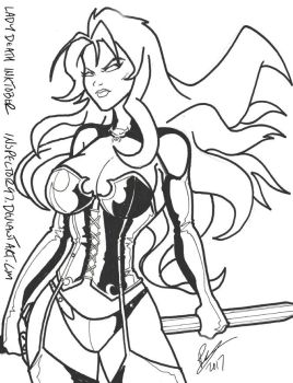 Inktober Lady Death by Inspector97