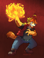 [Commission] Jaryl Fireball by raizy