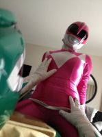 pink ranger and green ranger 2 by krazyminor2011