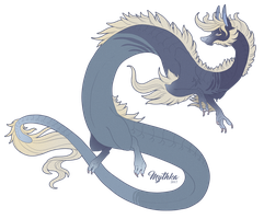 Dragon Sketch Design #50 by Mythka