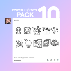ICON DOODLES PACK #001 BY PORCELAIN by thatporcelain