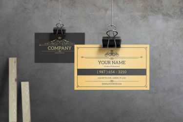 York - Vintage Business Card Template by macrochromatic