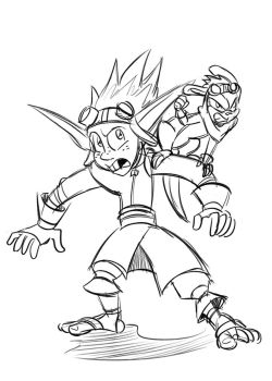 Inverse Jak and Dax sketch by Chauvels