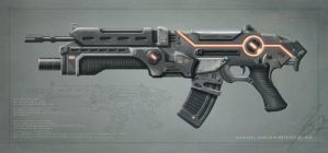 Assault rifle by jimsvanberg