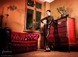 ScaryMissMary Latex-Gown (Black-smoky) by AmatorisLatexCouture