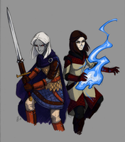 Taking on Skyrim Together by Valkyrie-Girl