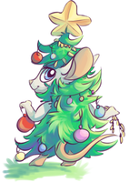 Transformice | Christmas tree mouse by YourSweetTomato