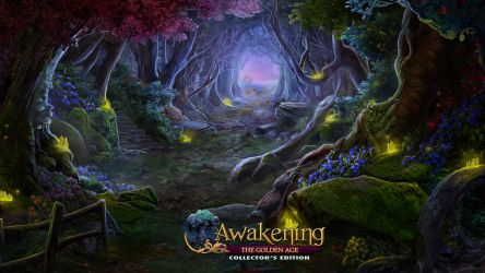 Awakening VII : The Golden Age - Forest path by Mardenoir