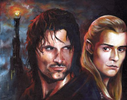 Aragorn and Legolas by sullen-skrewt