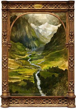 The Ring is Taken to Rivendell by BohemianWeasel