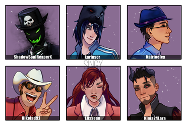OCs in my style by This-Is-Singy