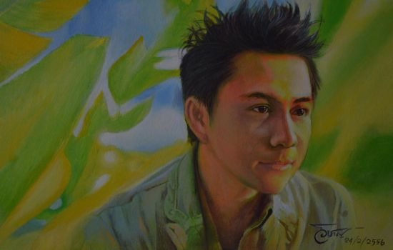 Teh  My friend Thai singer  by Acrylic. by wichanartice1967