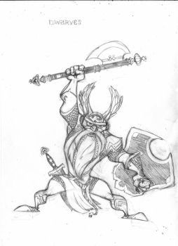 Golden Guard Dwarf Pencils by petestathis