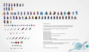 Sprites Collection Megaman ZX by Kurohiku-Chi