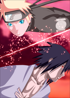 Sasuke and Naruto by iAwessome