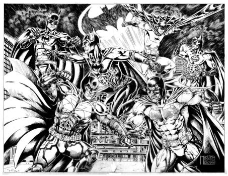 Batman battle inks by AntonioMastria