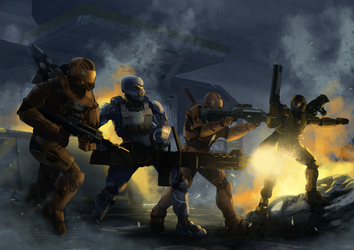 Halo Spartans by wildcard24