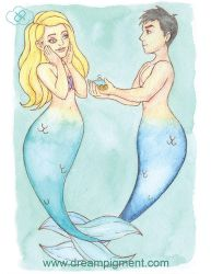 MerMay 2018: Day 17 - Propose by DreamPigment