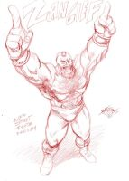 SF sketch: Zangief by MatiasSoto
