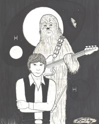 Han and Chewbacca as musicians by DENNYKNACK