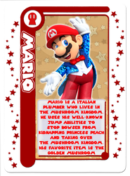 Mario Party Card Game: Mario Character Card by Assassannerr